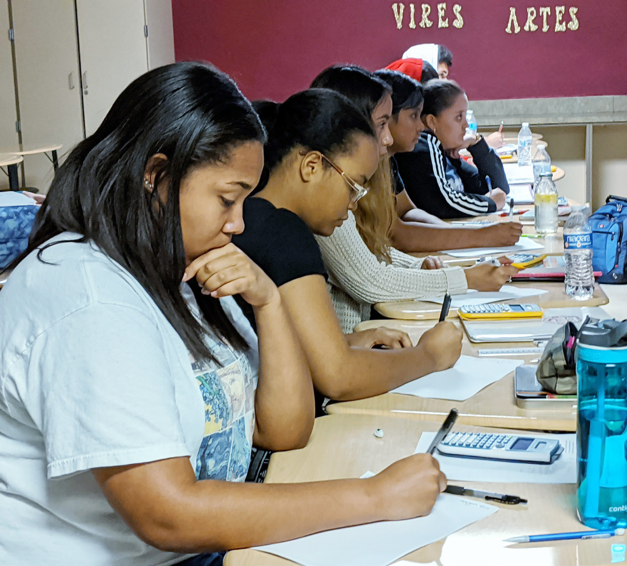 Palm Beach County high school students engage in accelerated mathematics coursework.
